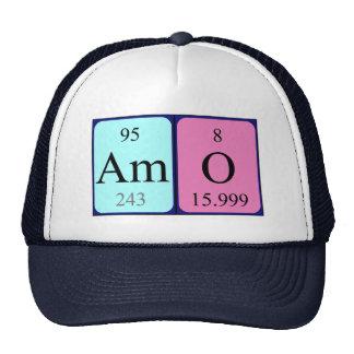 Gorra del nombre de la tabla periódica del Amo