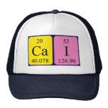 Gorra del nombre de la tabla periódica del Cai