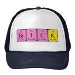 Gorra del nombre de la tabla periódica del ladrill