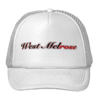 """Gorra del oeste de """"BlackOnRed"""" de la colada"""