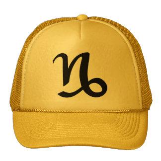 Gorra del oro amarillo del Capricornio