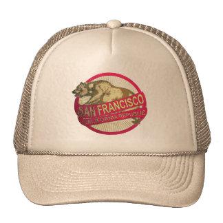Gorra del oso del vintage de San Francisco