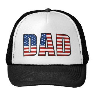 Gorra del papá de la bandera americana