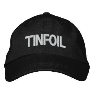 Gorra del papel de estaño gorras bordadas