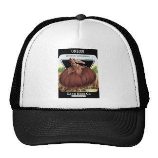 Gorra del paquete de la semilla de la cebolla