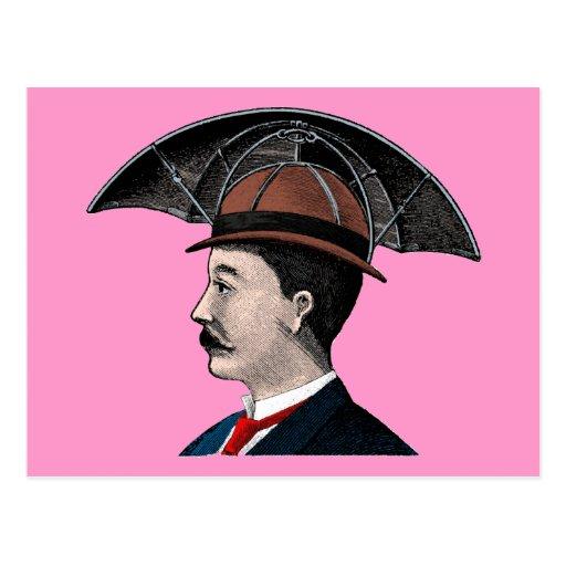 Gorra del paraguas - ejemplo del vintage tarjeta postal