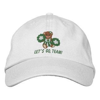 Gorra del peluche del espíritu de equipo gorro bordado