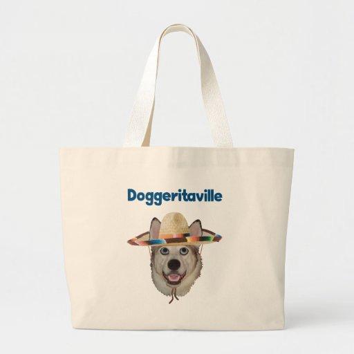 Gorra del perro de Doggeritaville Bolsa Tela Grande
