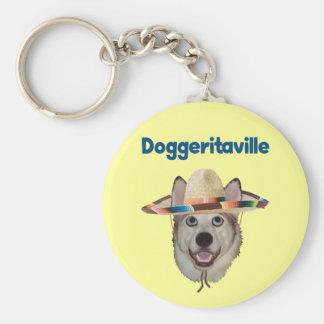 Gorra del perro de Doggeritaville Llavero Redondo Tipo Pin