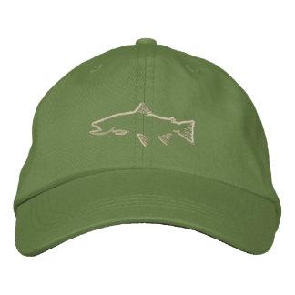 Gorra del perseguidor de la trucha - aceituna gorras bordadas