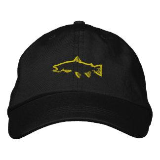 Gorra del perseguidor de la trucha - amarillo gorra de beisbol bordada