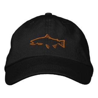 Gorra del perseguidor de la trucha - negro gorra bordada