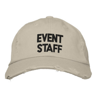Gorra del personal del acontecimiento gorros bordados