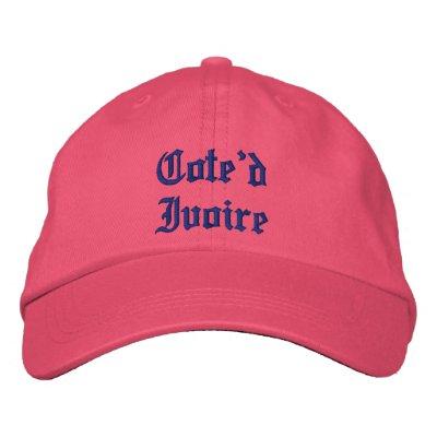 Gorra del personalizado de Cote'd Ivoire Gorras De Beisbol Bordadas