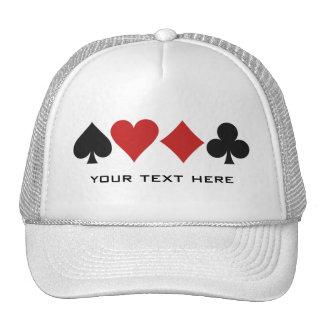 Gorra del personalizado del jugador de tarjeta