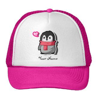 Gorra del personalizado del pingüino de Chibi