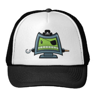 Gorra del pirata del ordenador