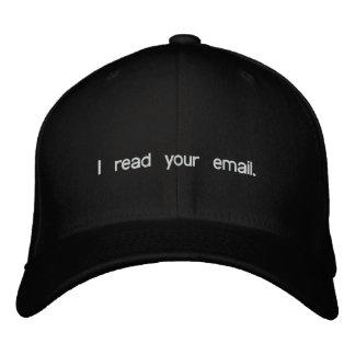 Gorra del pirata informático - leí su correo elect gorros bordados