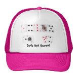 Gorra del póker de las mujeres