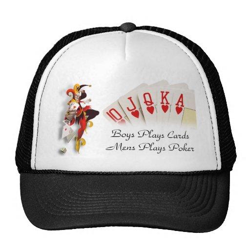 Gorra del póker de los hombres