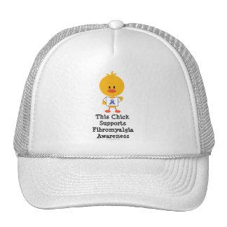 Gorra del polluelo de la conciencia del Fibromyalg