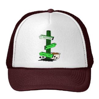 Gorra del poste de muestra del día de St Patrick d