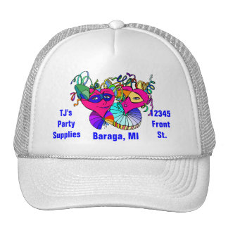 Gorra del promo para la publicidad de la tienda de