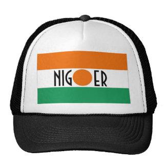 Gorra del recuerdo de la bandera de Niger