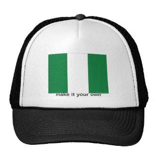 Gorra del recuerdo de la bandera de Nigeria