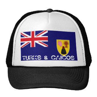 Gorra del recuerdo de la bandera de Turks and Caic