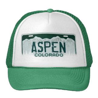 Gorra del recuerdo de la placa de Aspen Colorado