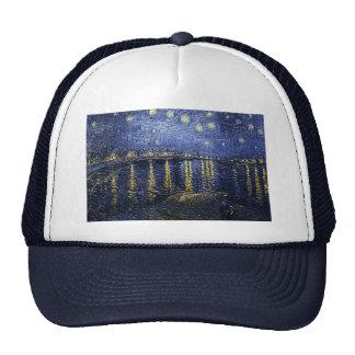 """Gorra del Rhone de Van Gogh """"noche estrellada sobr"""