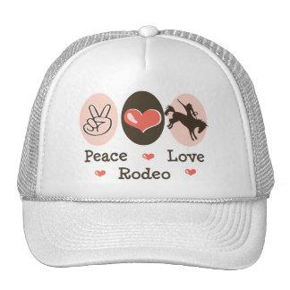Gorra del rodeo del amor de la paz