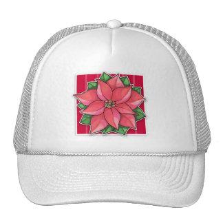 Gorra del rojo de la alegría del Poinsettia