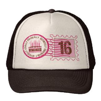 Gorra del sello 16 del cumpleaños