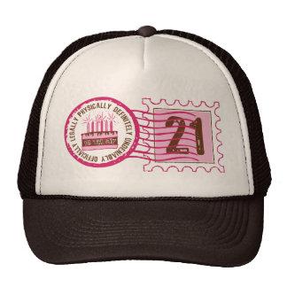 Gorra del sello 21 del cumpleaños