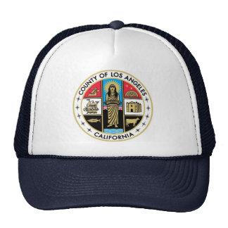 Gorra del sello del condado del LA de Los Ángeles