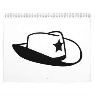 Gorra del sheriff calendario de pared