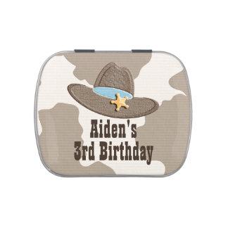 Gorra del sheriff del vaquero frascos de caramelos