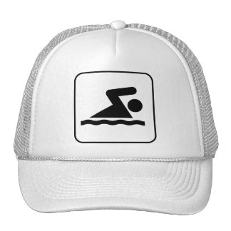 Gorra del símbolo de la nadada