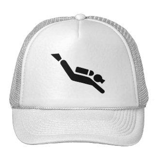 Gorra del símbolo del buceo con escafandra