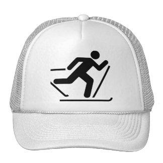 Gorra del símbolo del esquí del campo a través