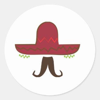 Gorra del sombrero pegatina redonda