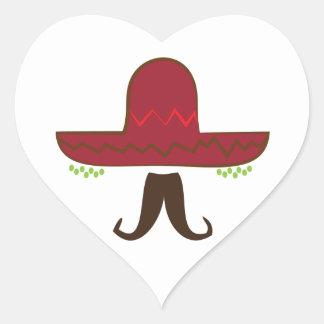 Gorra del sombrero pegatina en forma de corazón