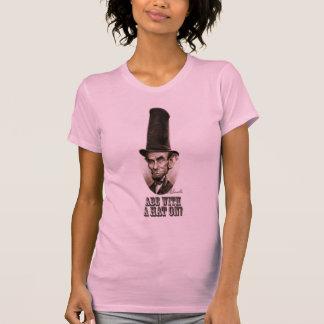 Gorra del Stovepipe de Abe Camiseta