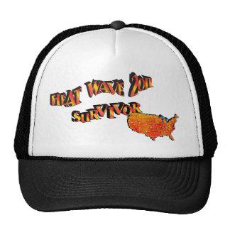 Gorra del superviviente del mapa de la ola de calo