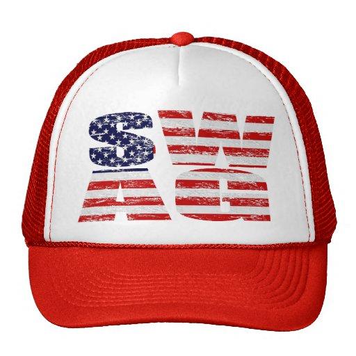 Gorra del SWAG de la bandera de los E.E.U.U. (apen
