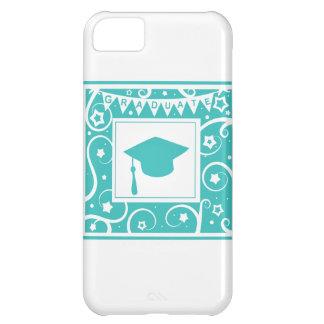 Gorra del tablero del mortero del graduado del azu funda para iPhone 5C