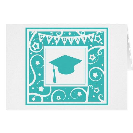 Gorra del tablero del mortero del graduado del tarjeta de felicitación