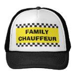 Gorra del taxi del chófer de la familia